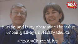 Martyn and Lucy chew over being all-age in Messy Church